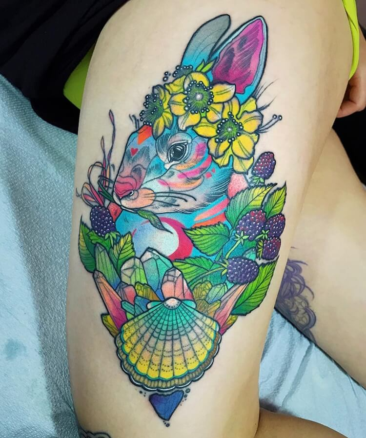 vibrant animal tattoos 3 (1)