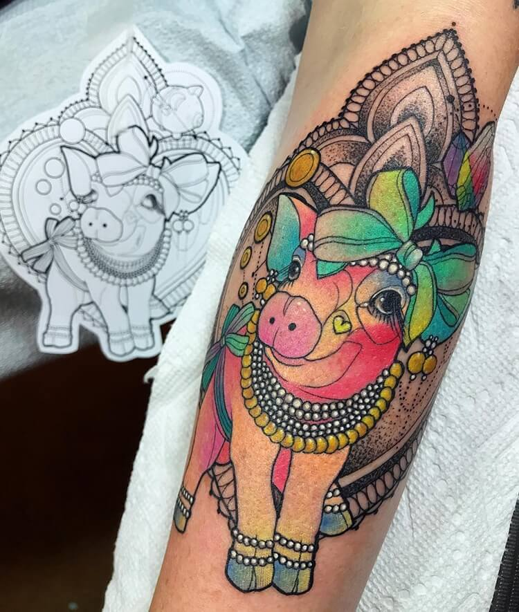 vibrant animal tattoos 30 (1)