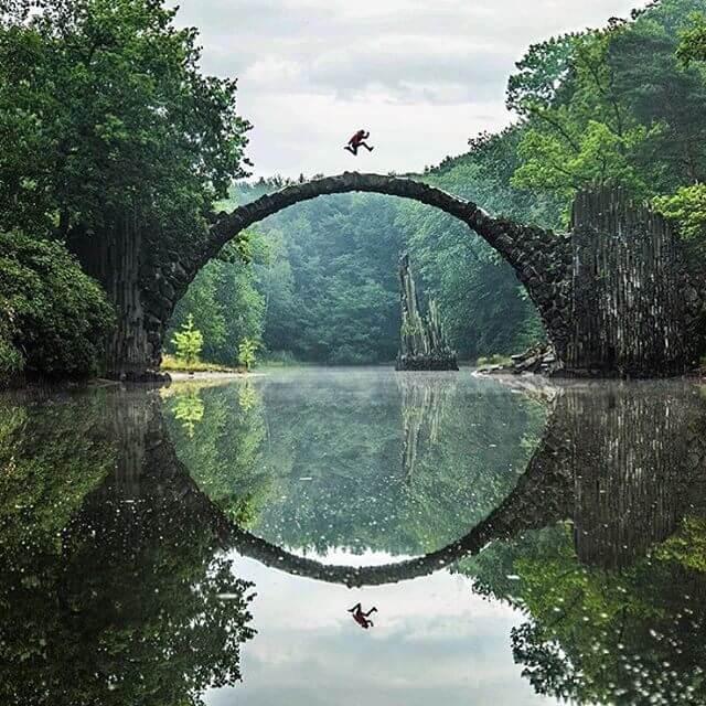 Rakotzbrücke Devil's Bridge 3 (1)
