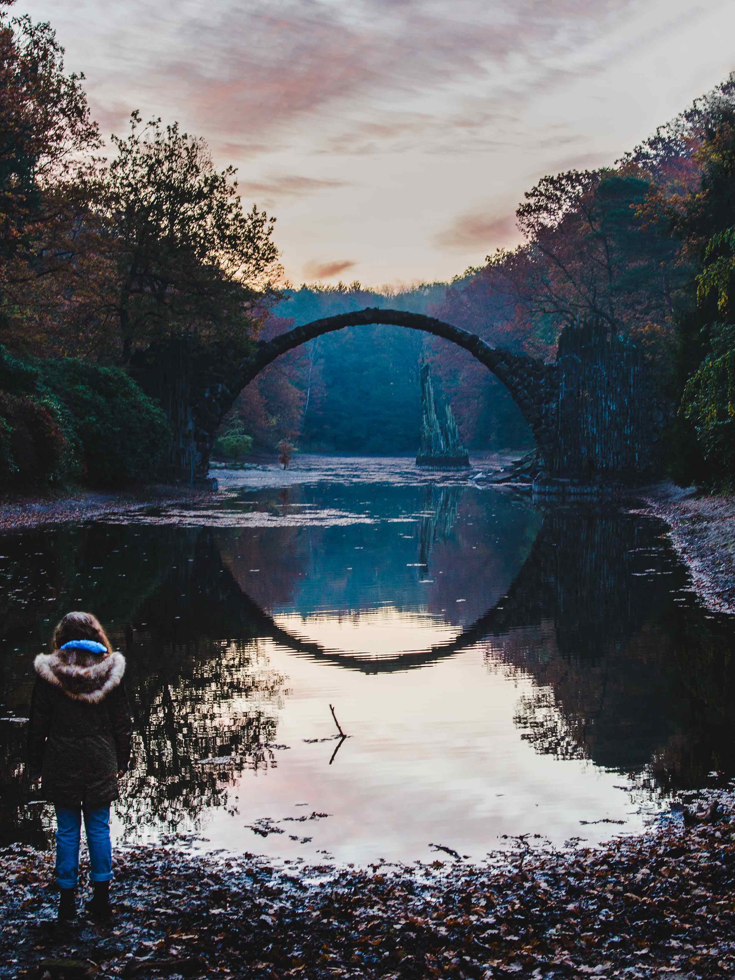 Rakotzbrucke Devil's Bridge - sunrise