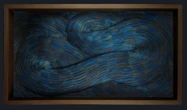 kate mccgwire bird feathers sculptures 2 (1)