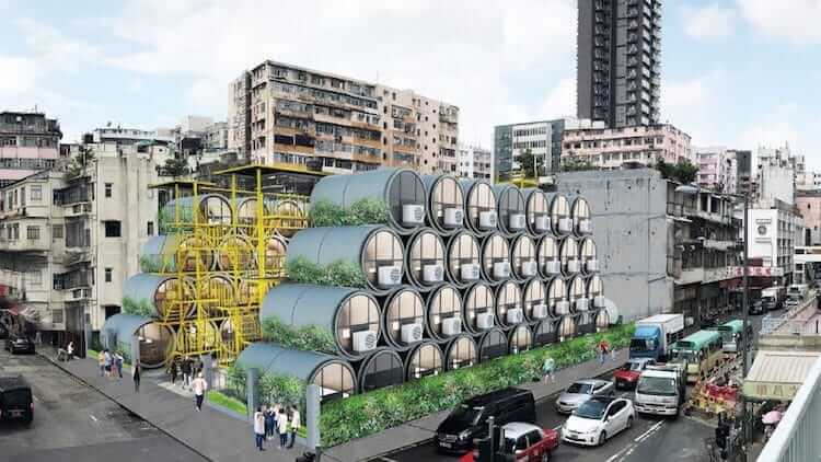 micro apartments from water tubes 7 (1)
