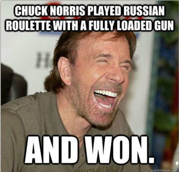 chuck norris puns 7