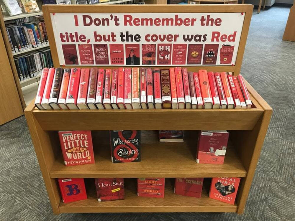 shelf dedicated to books with red covers 1 (1)