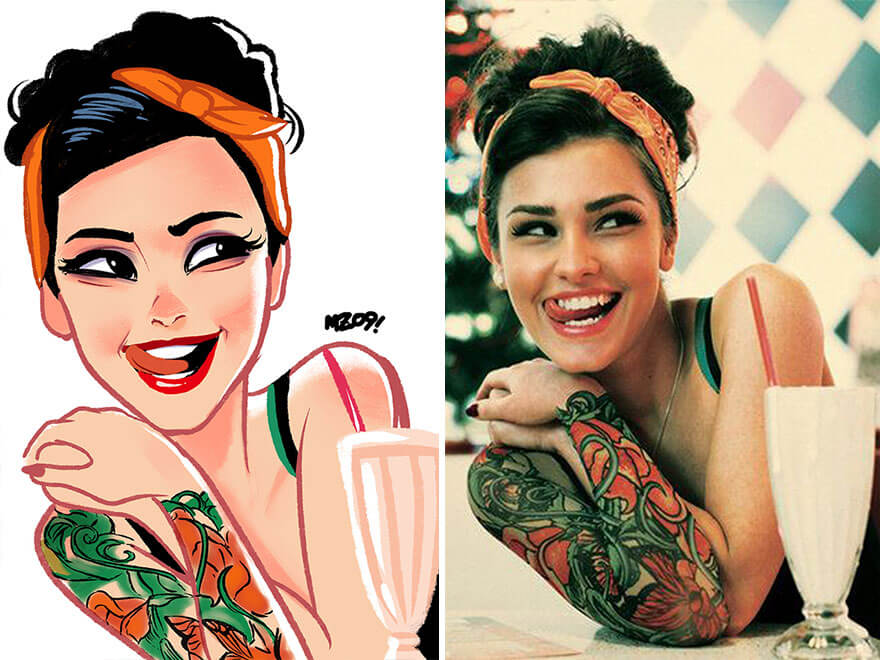 Julio Cesar random people illustrations 22 (1)