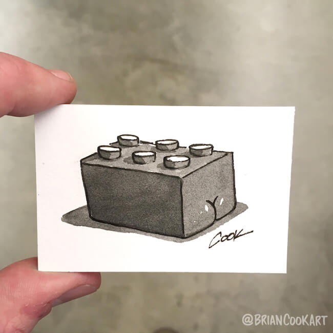 drawing butts on things brian cook art 22 (1)