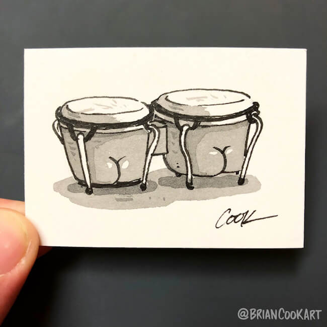 drawing butts on things brian cook art 34 (1)