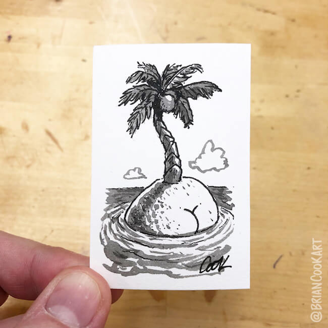 drawing butts on things brian cook art 35 (1)
