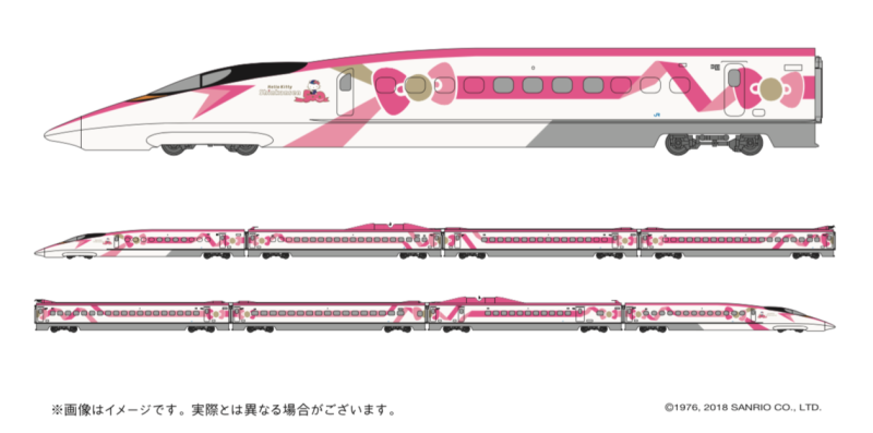 Japan is getting a hello kitty bullet train