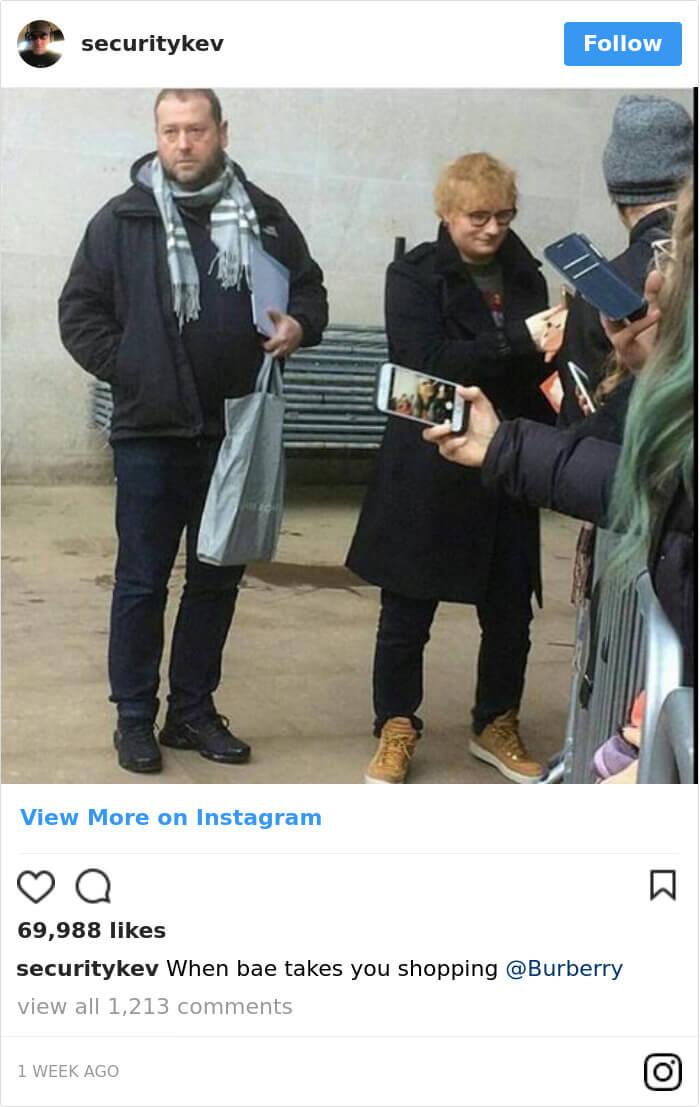 Ed Sheeran hilarious body guard instagram 12 (1)