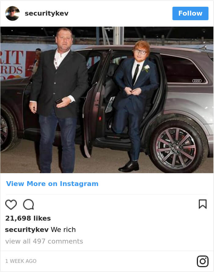 Ed Sheeran hilarious body guard instagram 13 (1)