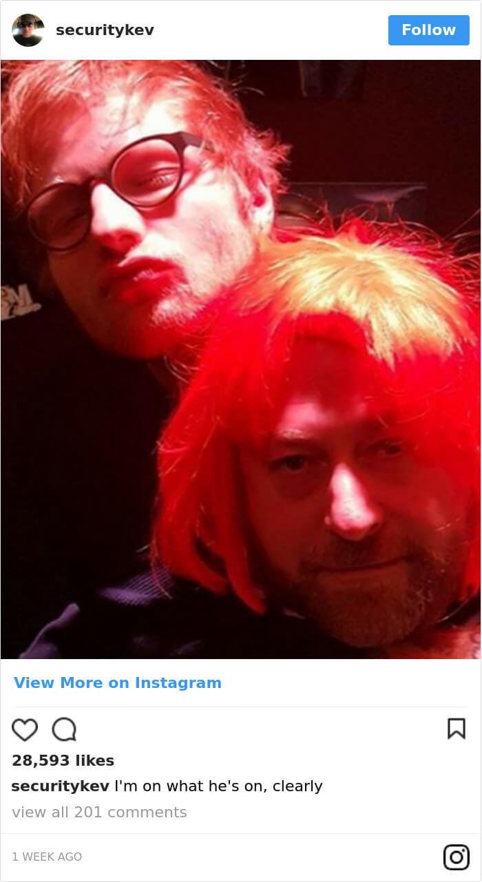 Ed Sheeran hilarious body guard instagram 14 (1)