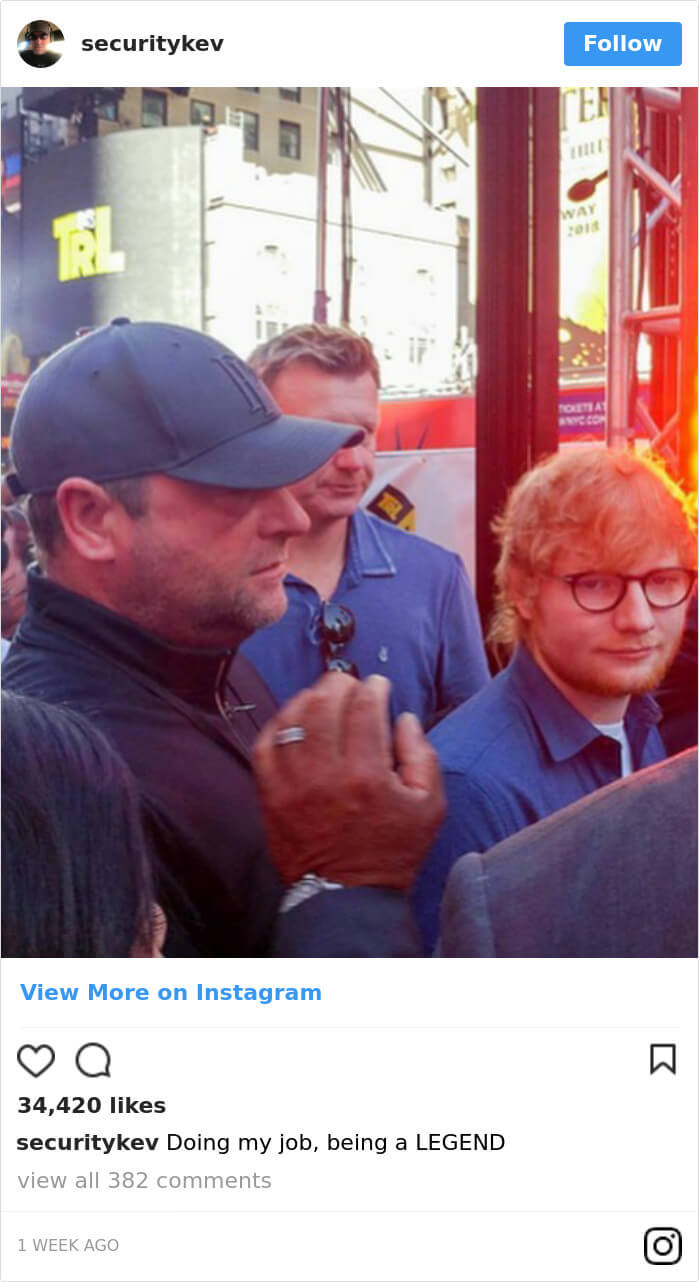 Ed Sheeran hilarious body guard instagram 8 (1)