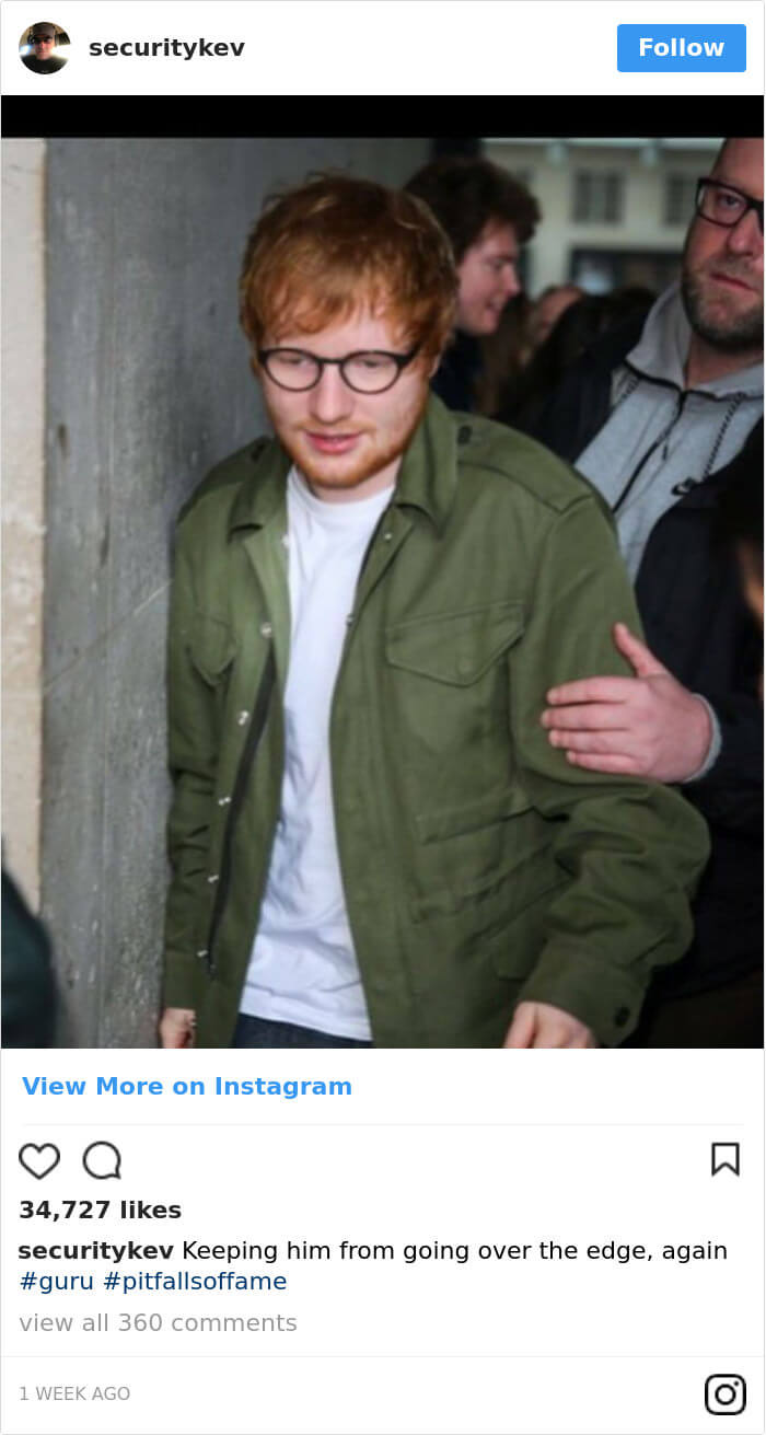 Ed Sheeran hilarious body guard instagram 9 (1)