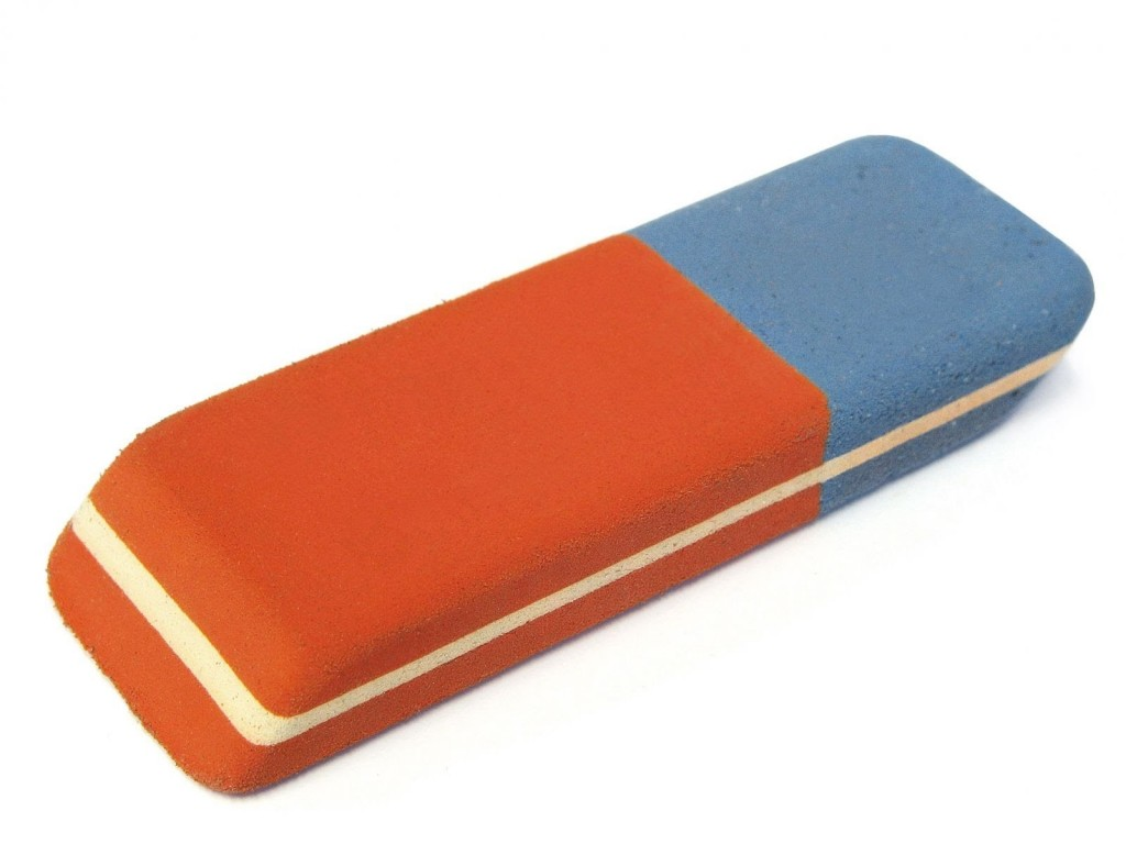 eraser blue side purpose