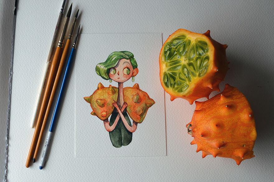 fruit illustrations marija tiurina 8 (1)