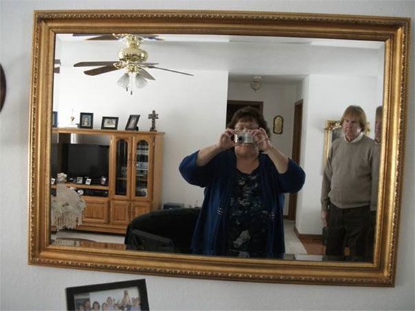 People taking pics of mirrors