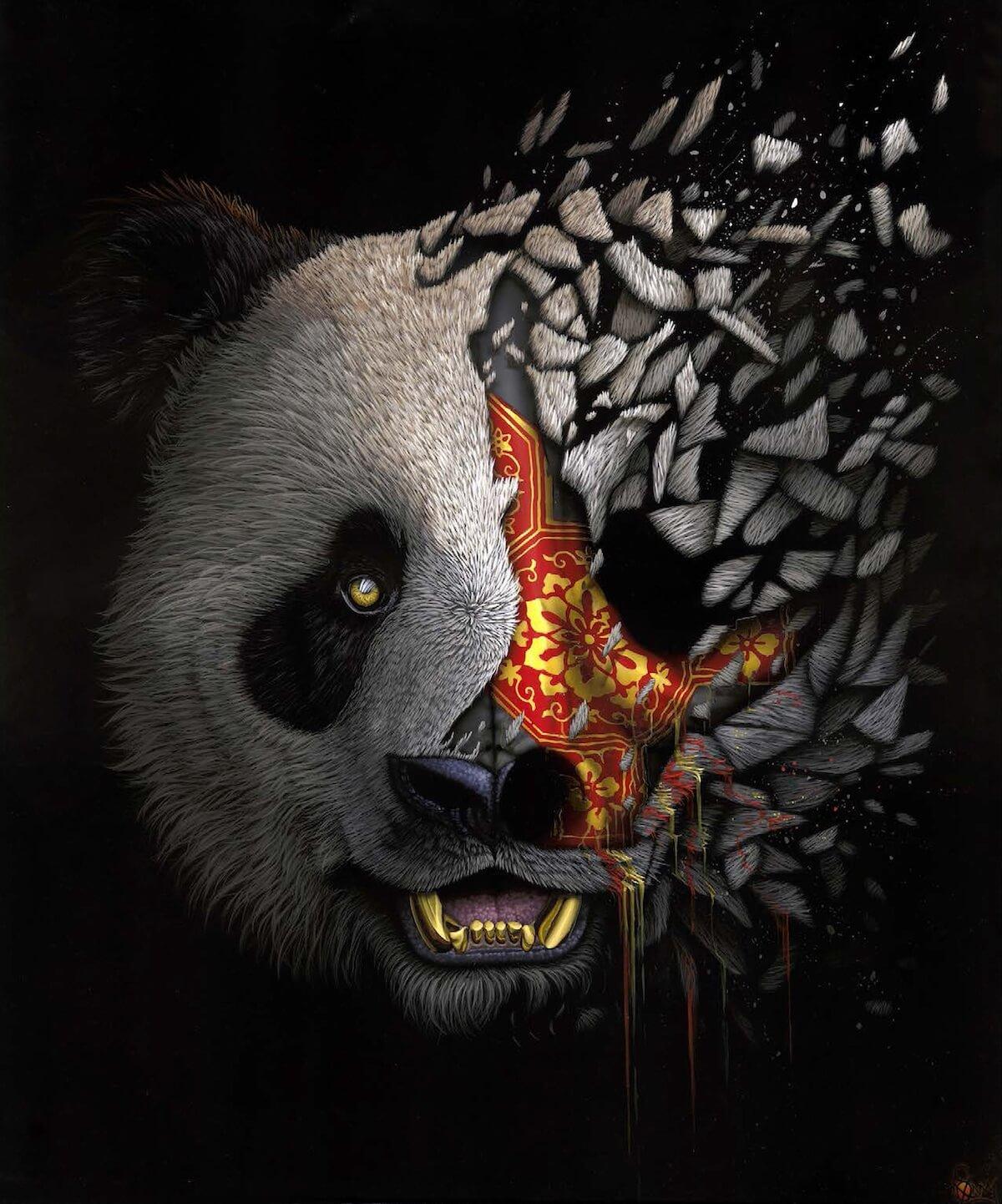 sonny animal paintings street animals endangered artist species panda awareness speaks history lives help giant advertisement