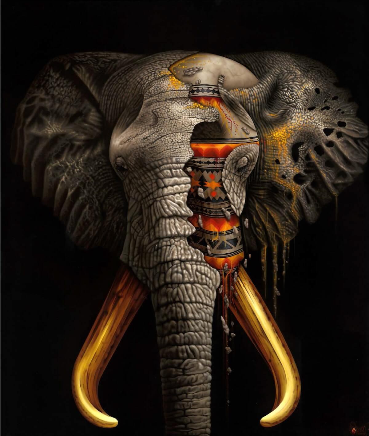 sonny animal paintings street animals artist endangered elephant species history awareness speaks mudiwa advertisement lives