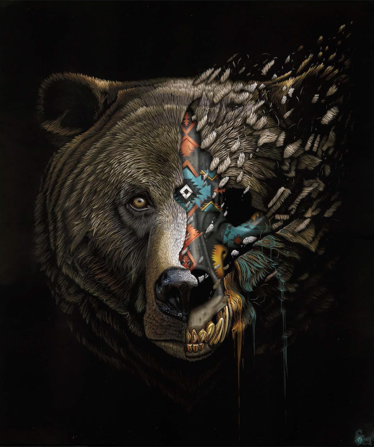 sonny animal paintings endangered street animals artist bear species speaks history awareness help grizzly advertisement lives