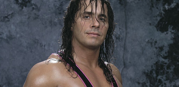 why do wrestlers wet their hair - bret hart (1)