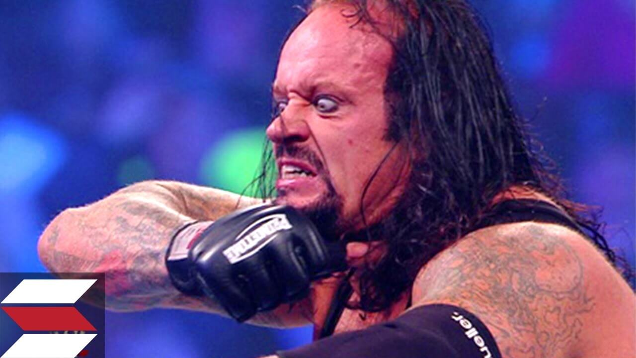 why do wrestlers wet their hair - the undertaker (1)