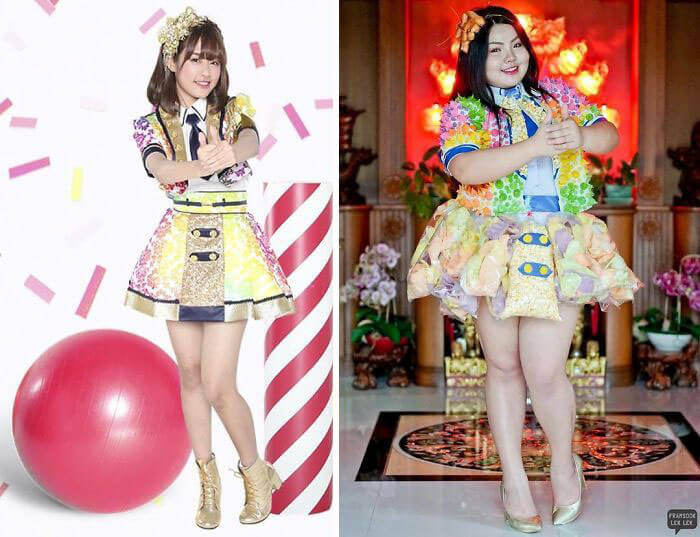 Recreate Celebrity Outfits with food sine benjaphorn 21 (1)