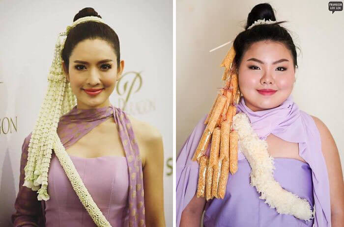 Recreate Celebrity Outfits with food sine benjaphorn 25 (1)