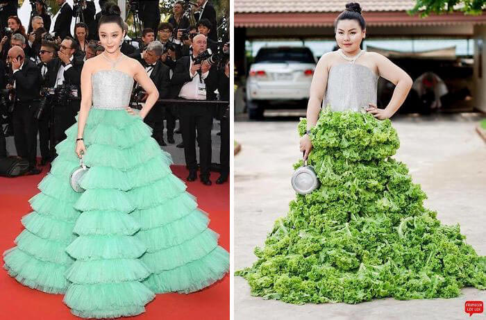 Recreate Celebrity Outfits with food sine benjaphorn 5 (1)