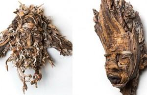 bennett weing driftwood face sculptures feat (1)