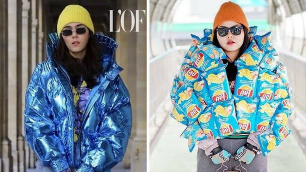sine banjaphone recreates famous outfits with food feat (1)