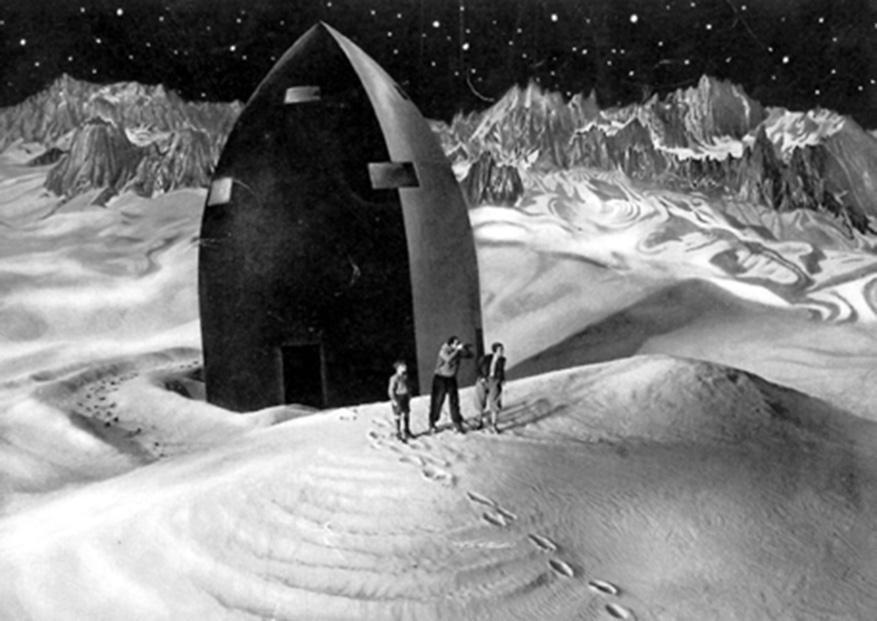 """""""Frau im Mond"""" Gustl Stark-Gstettenbaur, Willy Fritsch, Gerda Maurus (v.l.n.r.)"""