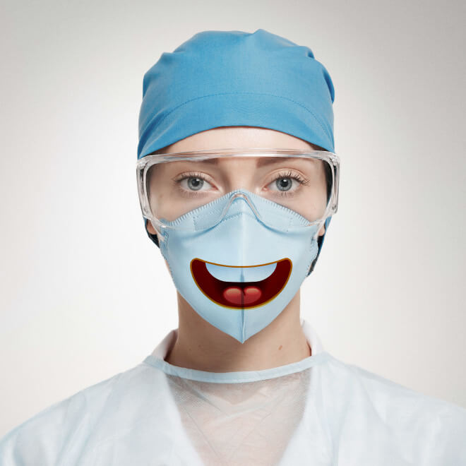 18 Pictures Of Funny Surgical Masks That Prove Laughter Can Make
