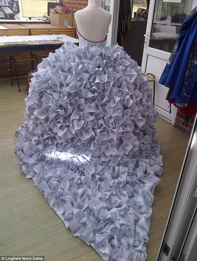 wedding dress made out of divorce papers 2 (1)