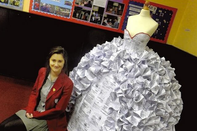 wedding dress made out of divorce papers 3 (1)