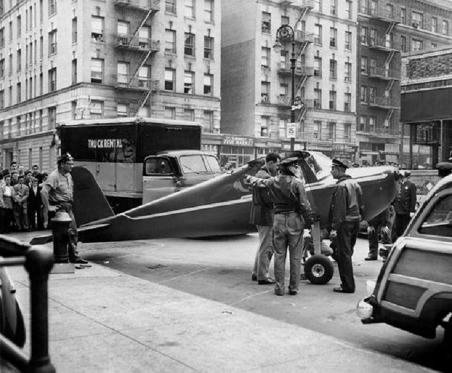 "Tommy Fitz is the man who ""parked"" his plane near a bar, in Manhattan"