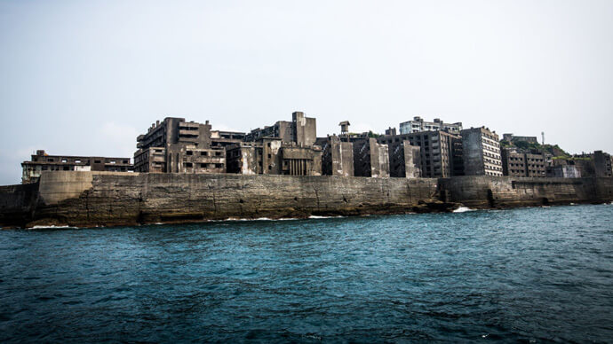 ghost town hashima island