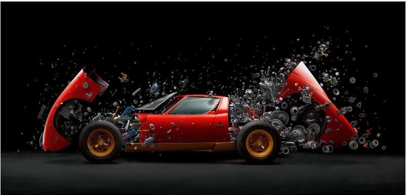 Amazing Shooting of a Lamborghini being taken apart