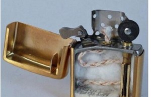 the insides of a zippo lighter