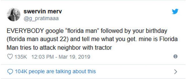 The Florida Man Challenge most hilarious 19 tweets
