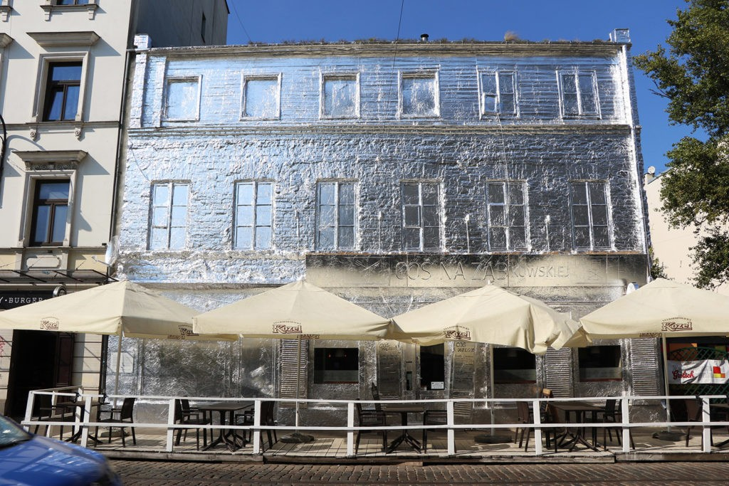This Warsaw building is wrapped in tin foil