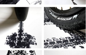 Bicycle Tire Tracks Landmarks