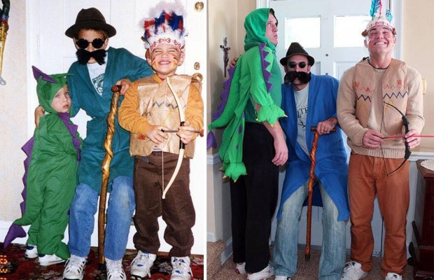 brothers gift their mother a remake of their childhood photos