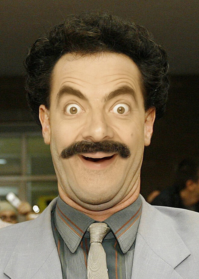 What if Mr Bean played Borat