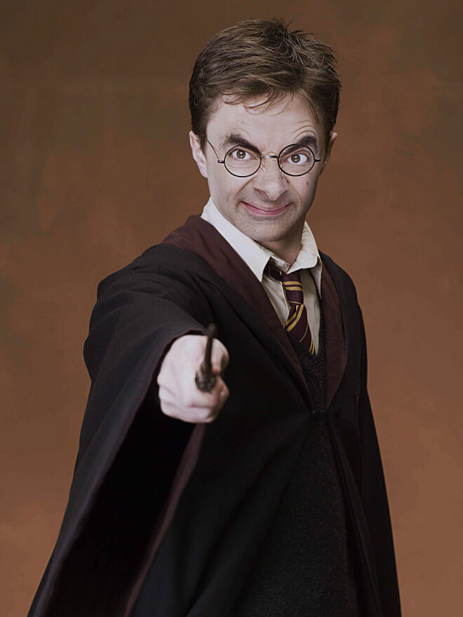 What if Mr Bean played Harry Potter