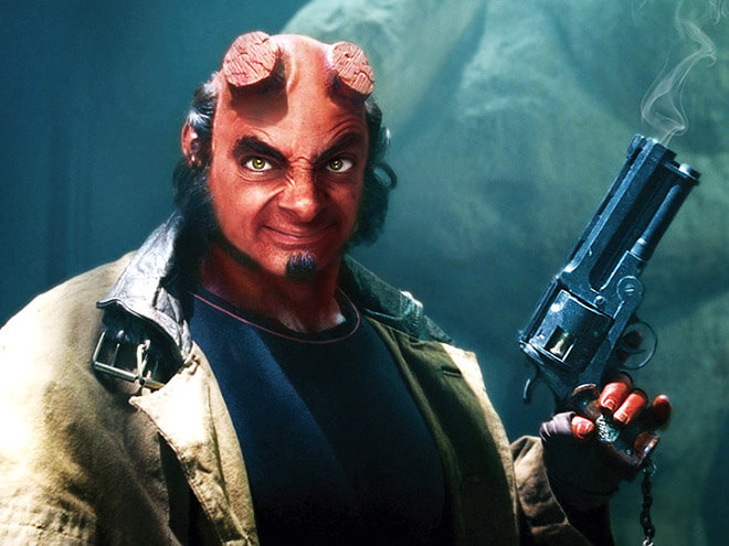What if Mr Bean played HellBoy