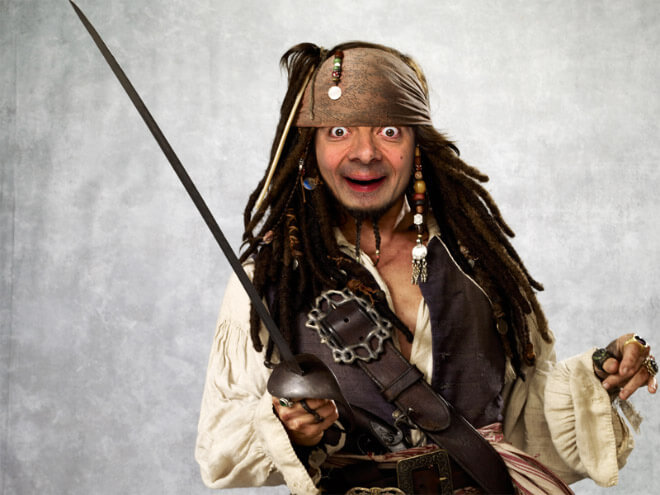 What if Mr Bean played Jack Sparrow