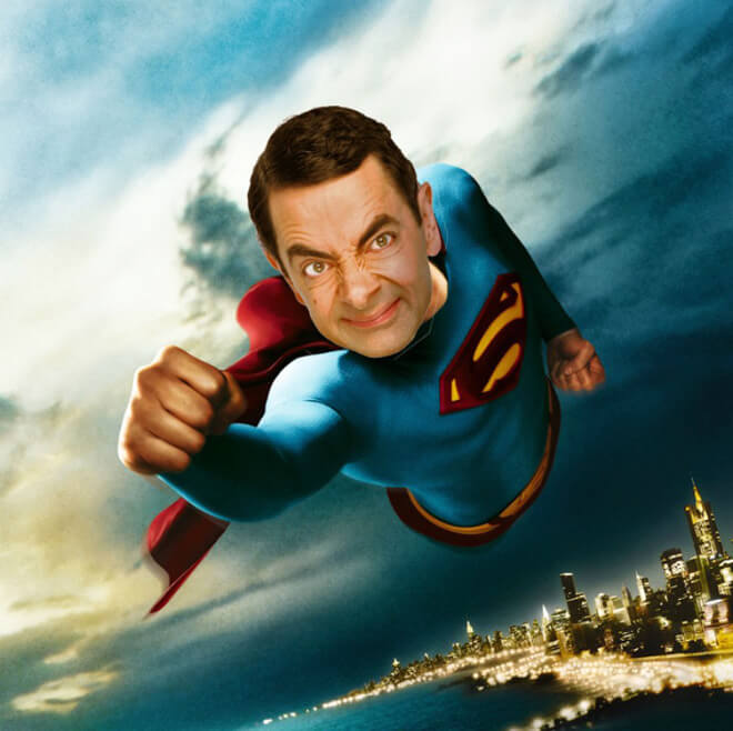 What if Mr Bean played Superman