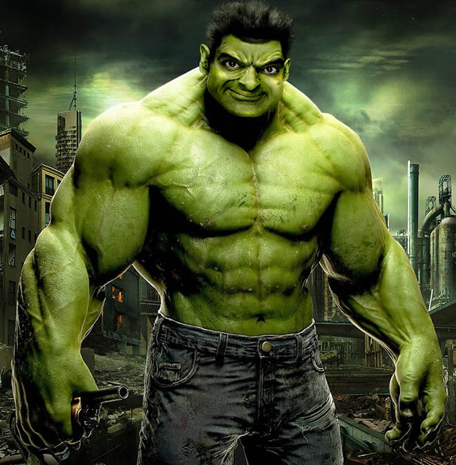 What if Mr Bean played The Incredible Hulk