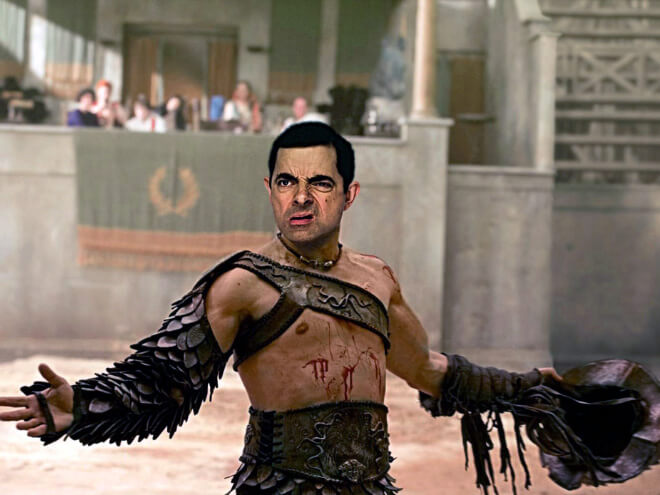 What if Mr Bean played the Gladiator